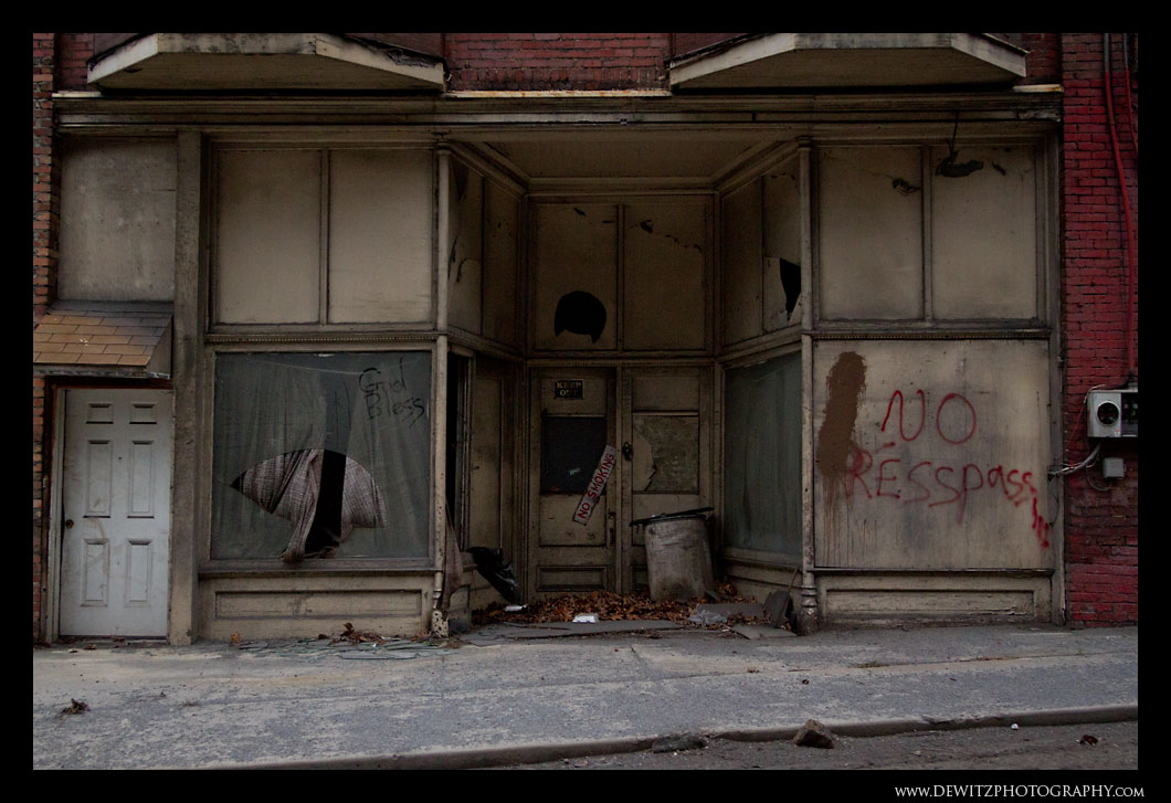Abandoned Business on Main Street in Keystone