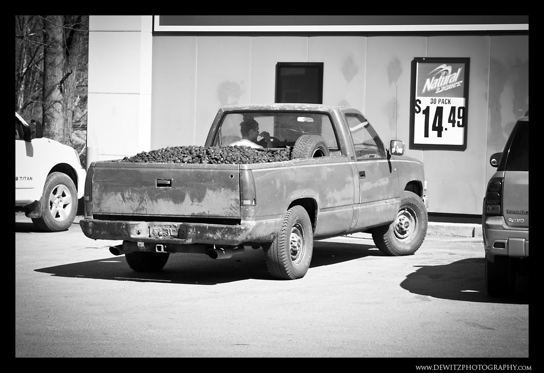 Chevy Pickup Hauling Coal and Shaving