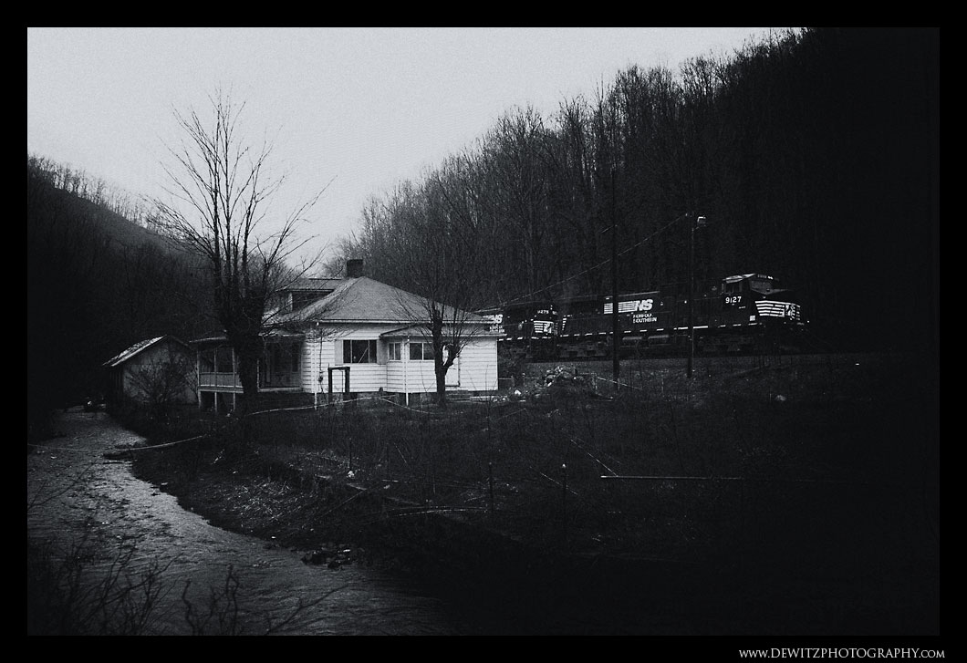 Down Pour in Upland - Coal Train