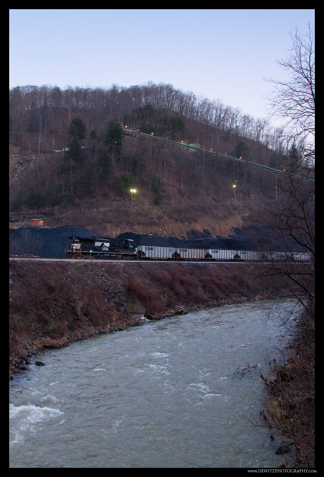 Moving Coal Cars to be Loaded at Teco Mine