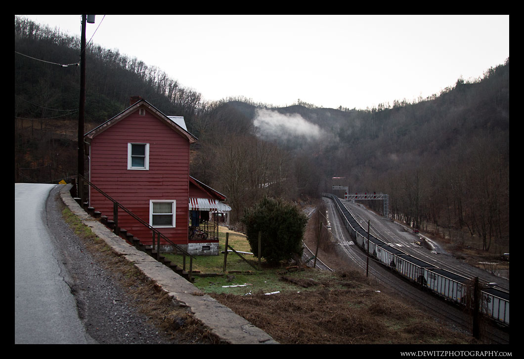 Red House Overlooking Coal Trains