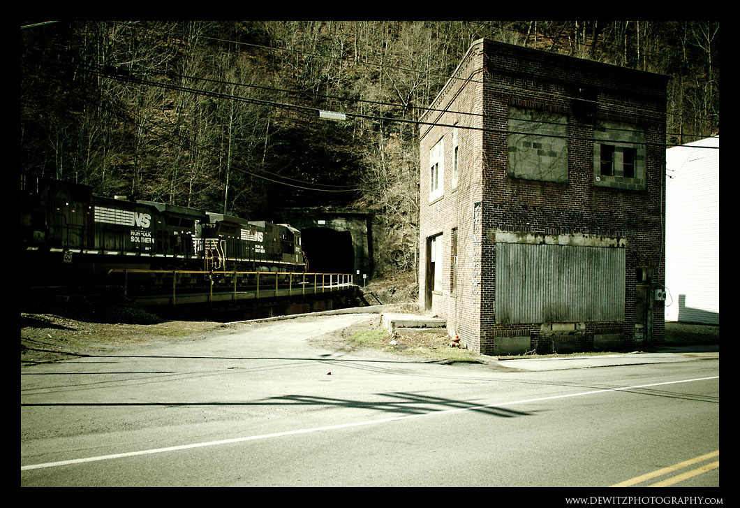 Tunnel and Abandoned Building in Kimball West Virginia