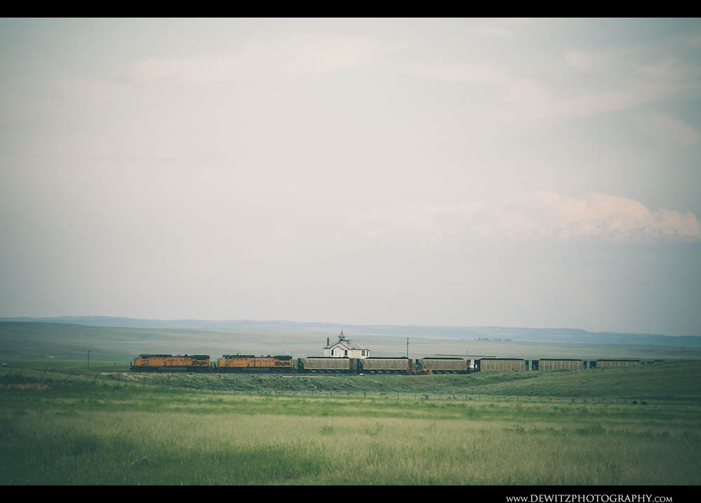 104UP Coal Train at Shawnee WY