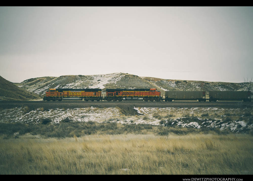 107BNSF in the PRB Near Converse Jct