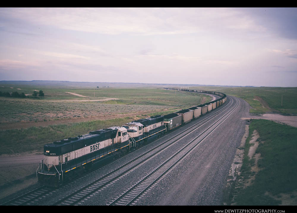 110BNSF Coal Train Near Douglas Wyoming