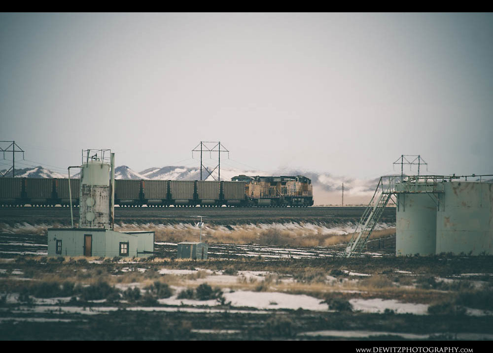 115Oil and Gas Tanks Along Train Tracks