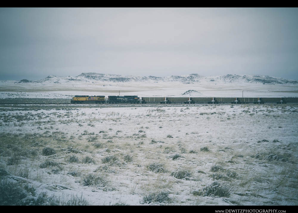 147Ex Southern Pacific Locomotive in the Powder River Basin