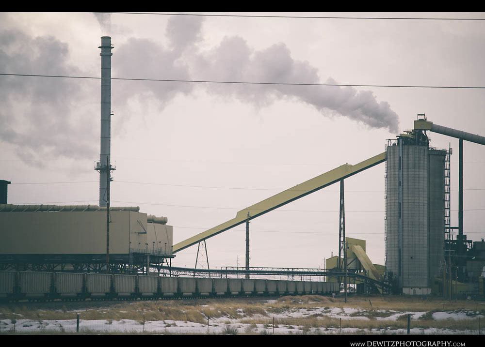 172Coal Hoppers Move Through Wyodak Plant Complex