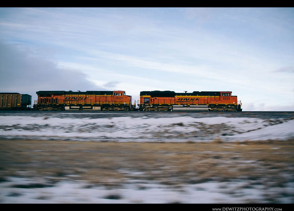 187A BNSF Coal Train Thunders Across the Basin