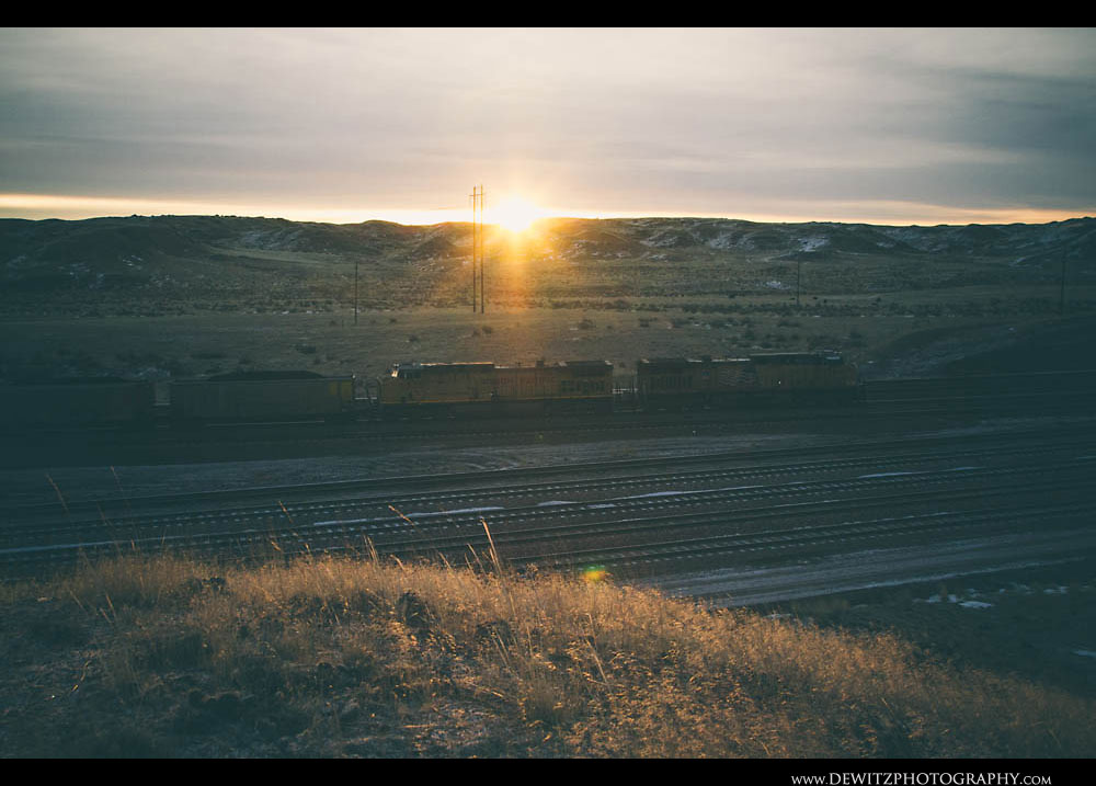 198Sunrise Over Union Pacific at Converse Jct