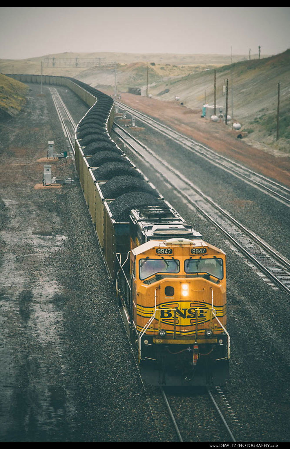 1Loaded Coal Train Climbs the Hill