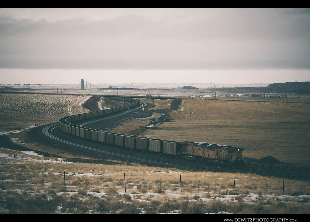 222Coal Creek Mine Can Be in the Distance as Union Pacific Powers Coal North