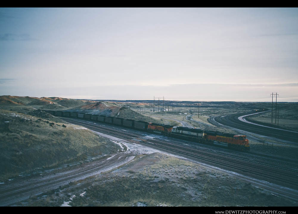 229BNSF Coal Train at Converse Jct