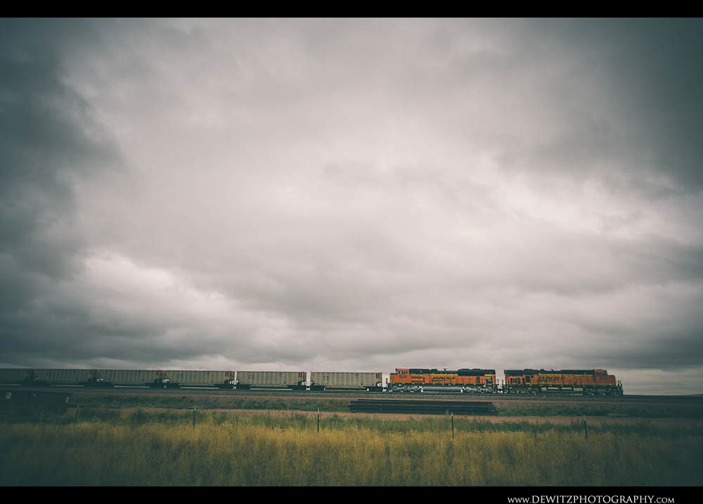 30Dramatic Clouds Over BNSF Train