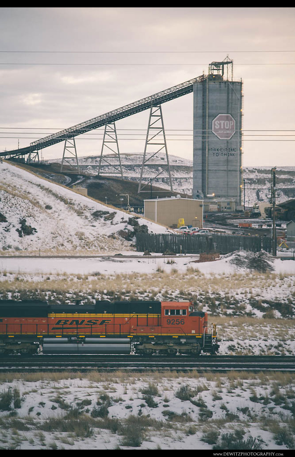 325BNSF Coal train Arrives at the Northern Rawhide Mine