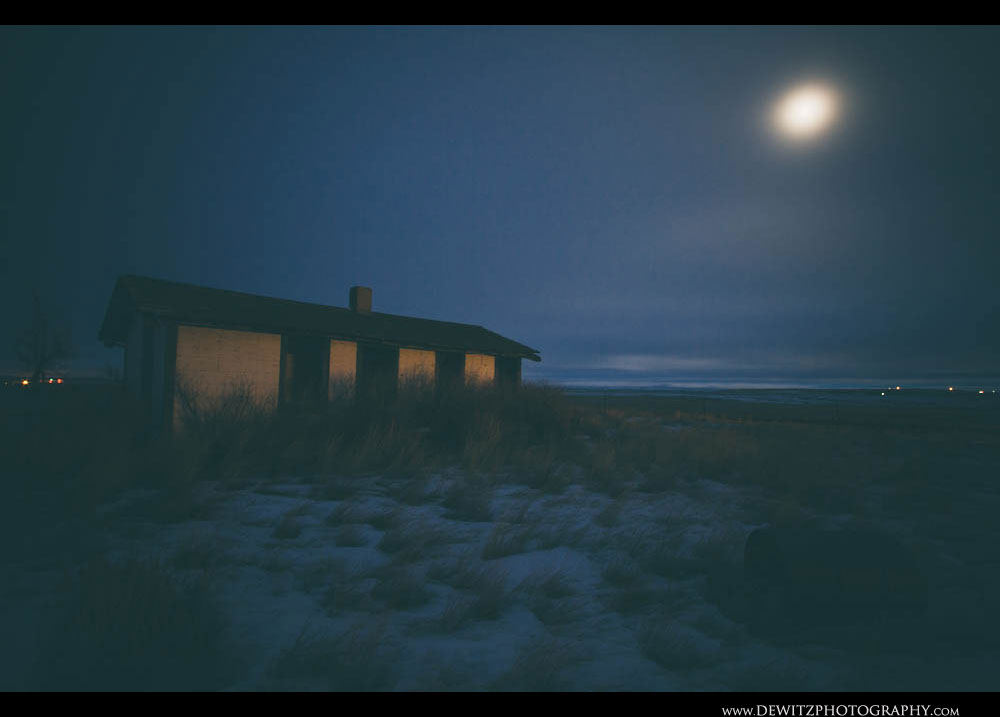 349Moon Light Bathes an Abandoned House Near Reno Jct