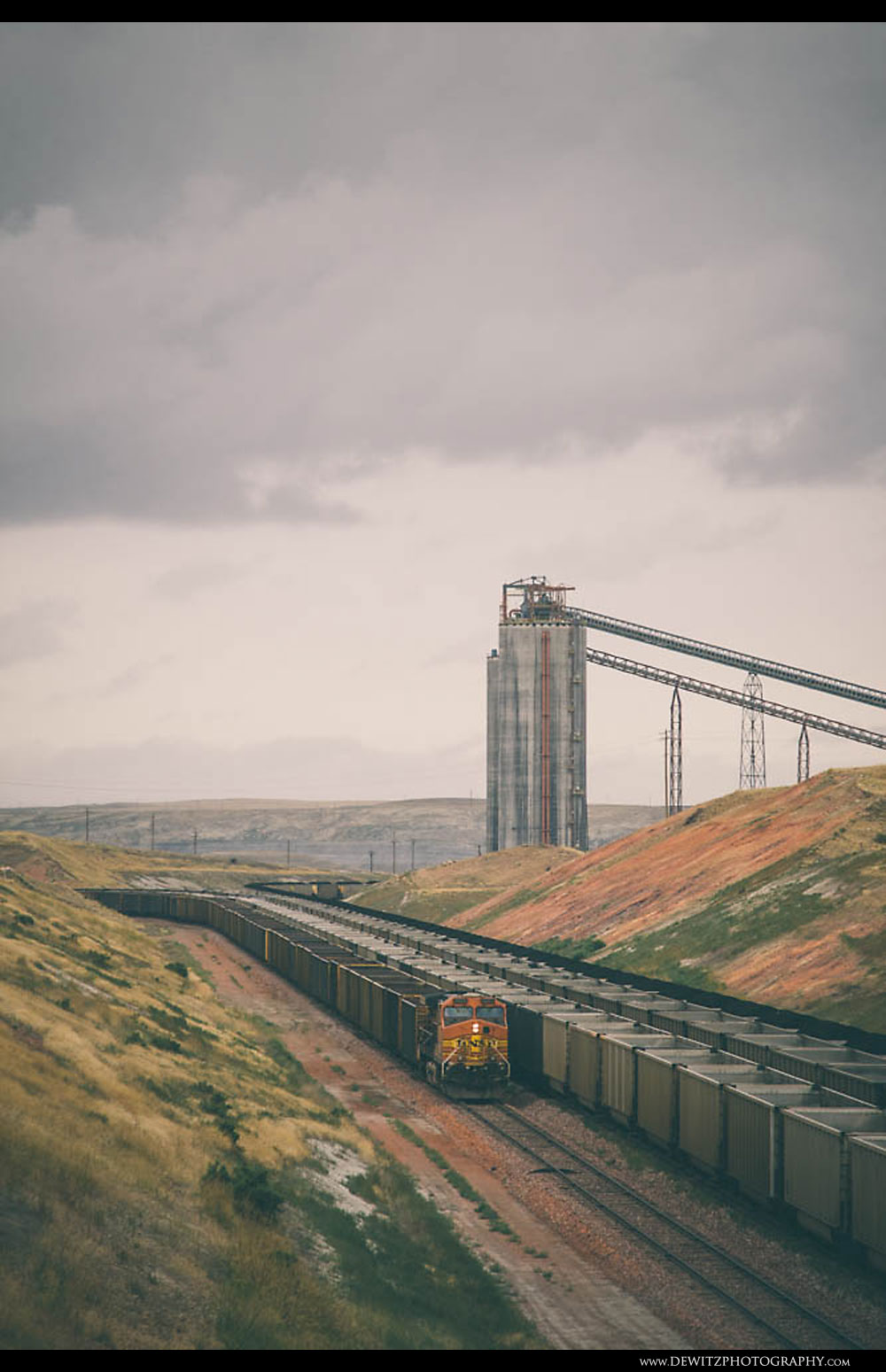 34BNSF Coal Train at Antelope Mine