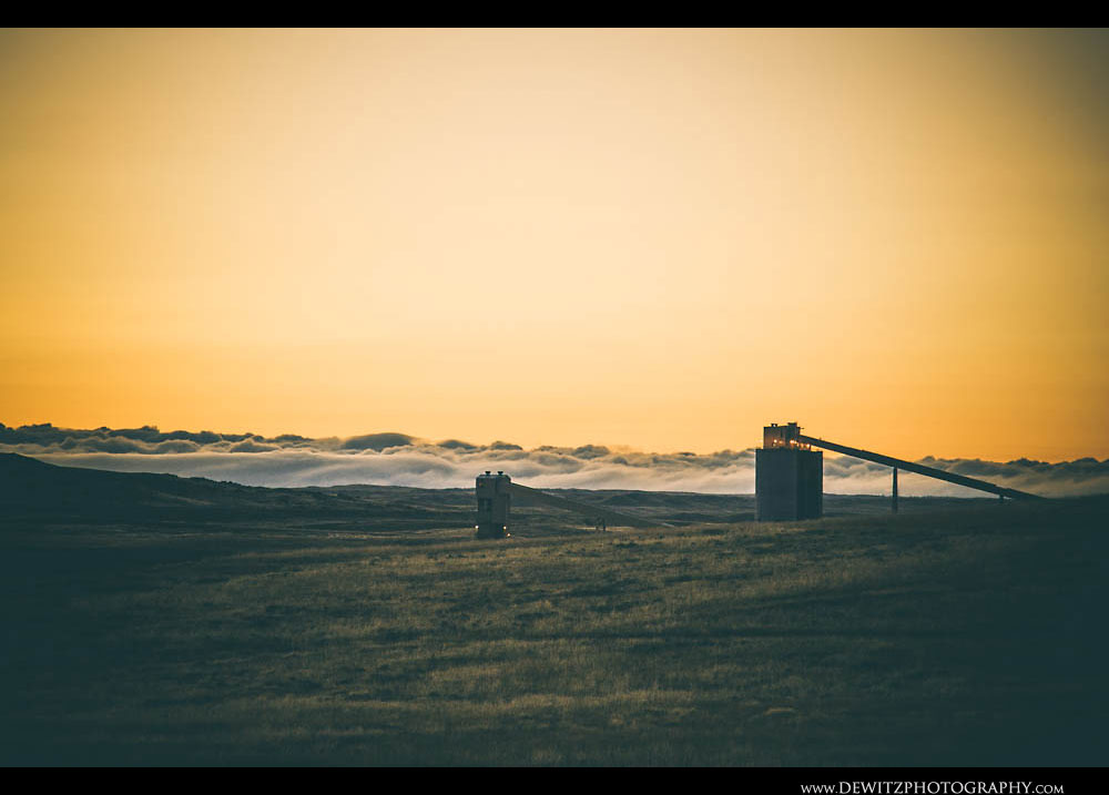 43Low Clouds at Sunrise Near Coal Mine