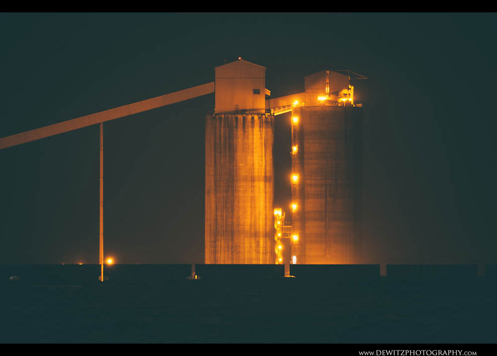 58Coal Silos at Night