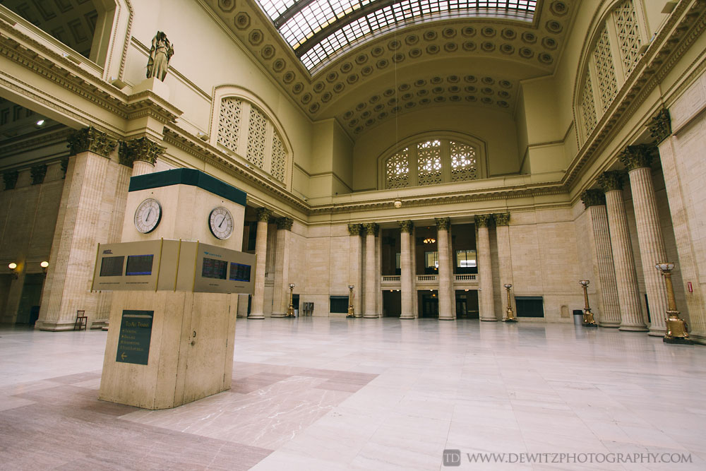 Chicago Union Station Empty Hall