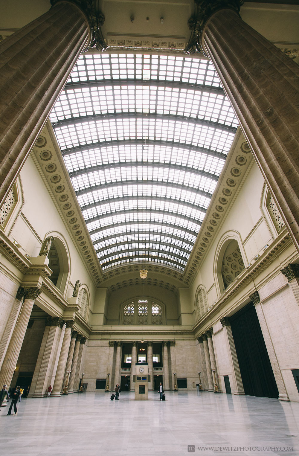 Chicago Union Station Great Hall With Skylights