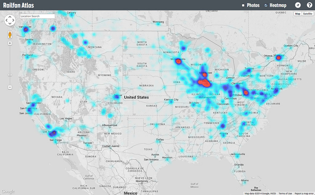 Nick Benson Railfan Atlas Heat Map