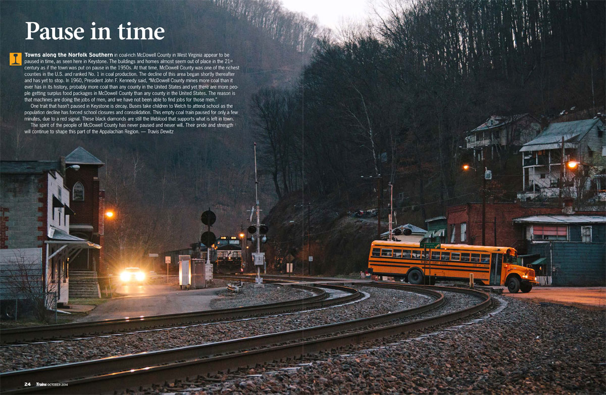 Pause in Time - Trains Magazine Frontis Piece
