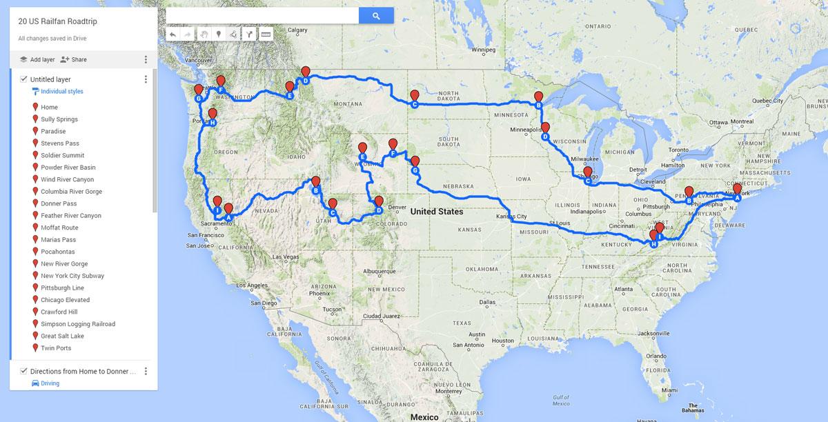 Railfan Road Map