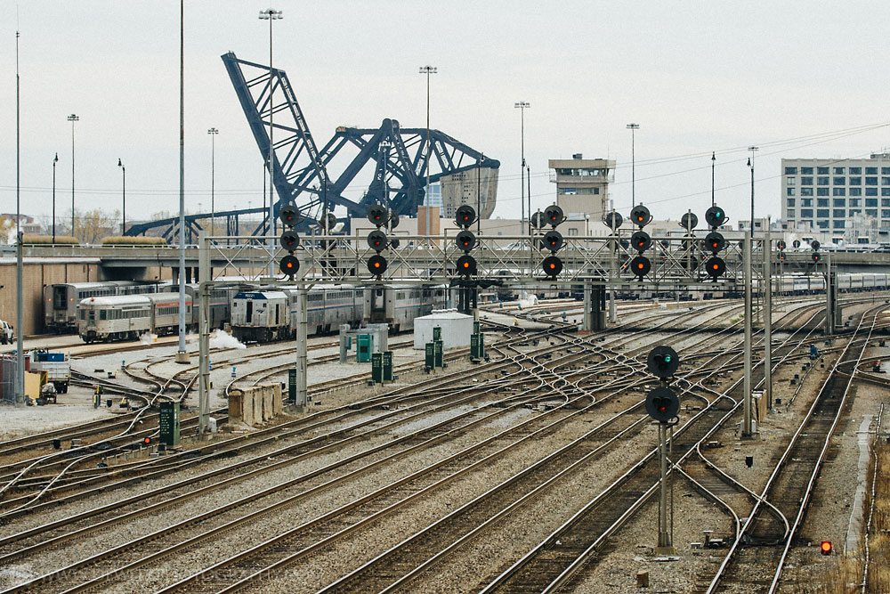 The Infrastructure that Feeds Chicago Union Station - Signals Switches Bridges and Tracks