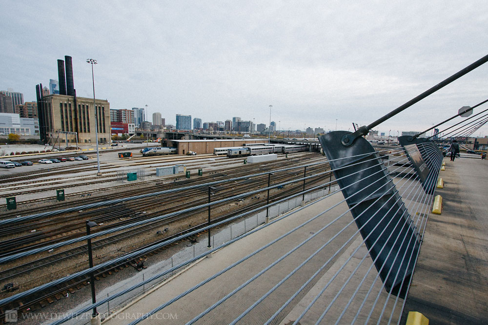 The Infrastructure that Feeds Chicago Union Station - Steel Cables Around Amtrak Yard
