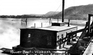 Pontoon Bridge Power Boat Wabasha Minn