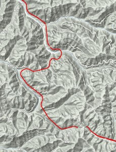 The Virginian Terrain Map Clarks Gap