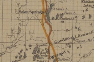 Vintage 1908 Railroad Map of Gordon Wisconsin