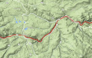 Moffat Route Topo Map Pinecliff to Rollinsville
