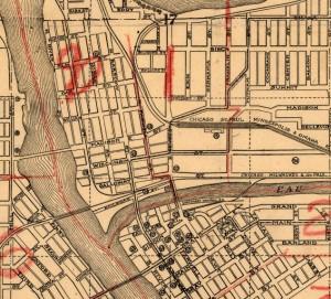 1918 Antique Eau Claire Wis Map