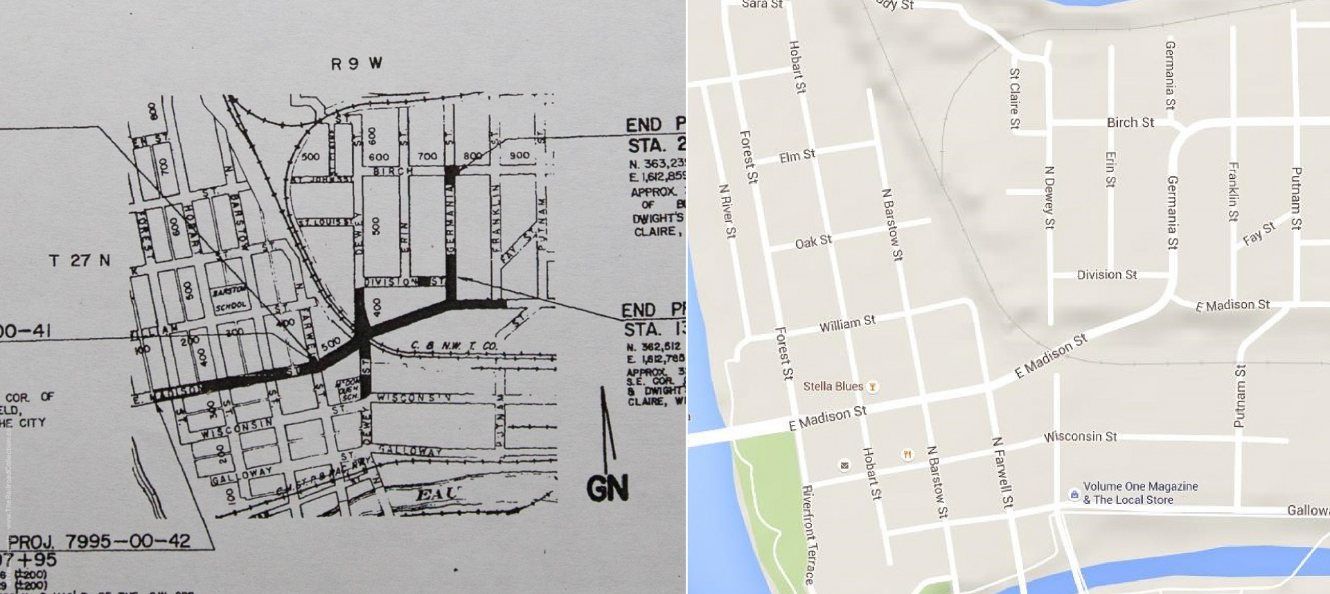 Madison St Hill Construction Before and After Map